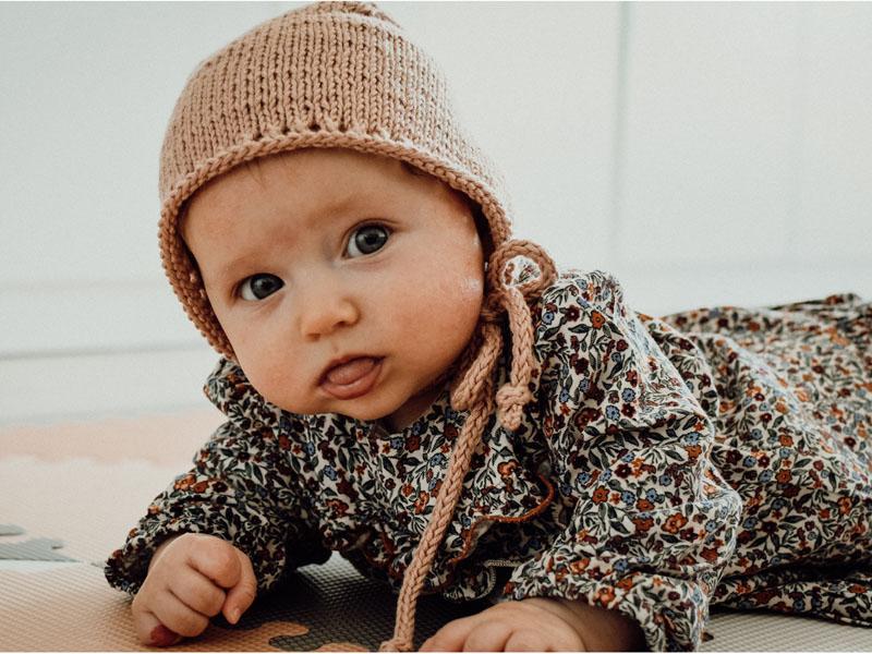 Bonetka - czapeczka w stylu vintage - rękodzieło - ALOM